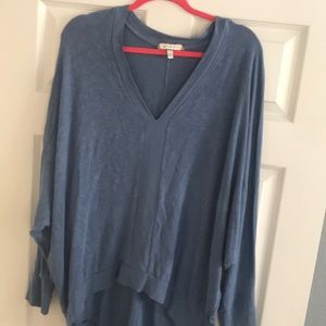 Anthropologie slouchy blue dolman style sweater